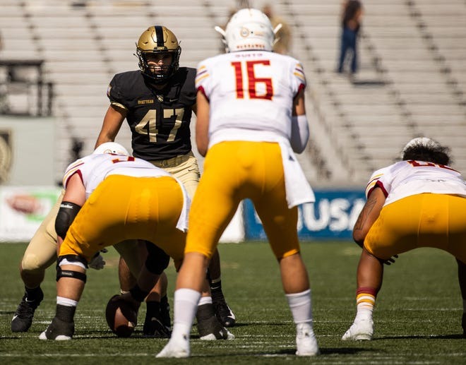 Army senior linebacker Jon Rhattigan is one of the nation's leading tacklers in his first season as a starter. DUSTIN SATLOFF/ARMY WEST POINT ATHLETICS