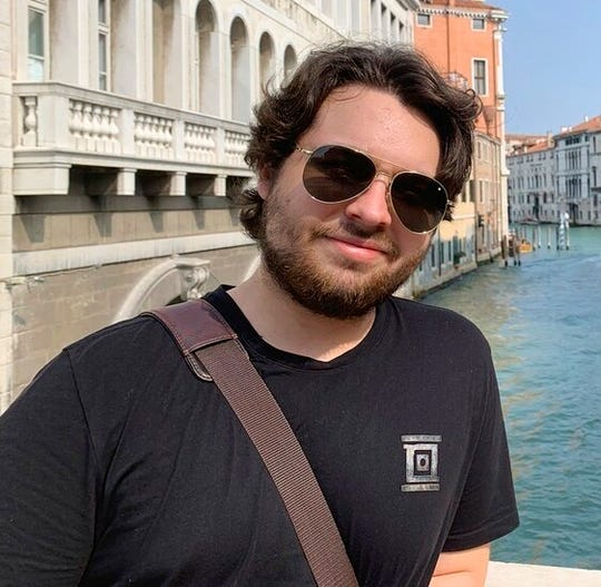 This 2019 photo provided by Mercedes Lemp shows Duncan Lemp in Venice, Italy.
