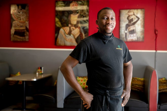 Bala Tounkara is co-owner and chef de cuisine at Bala's Bistro. Photographed Thursday, Oct. 22, 2020, in Memphis.