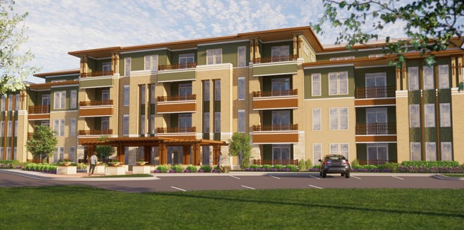 A four-story apartment building is planned for a site near Oak Creek's Ikea store.
