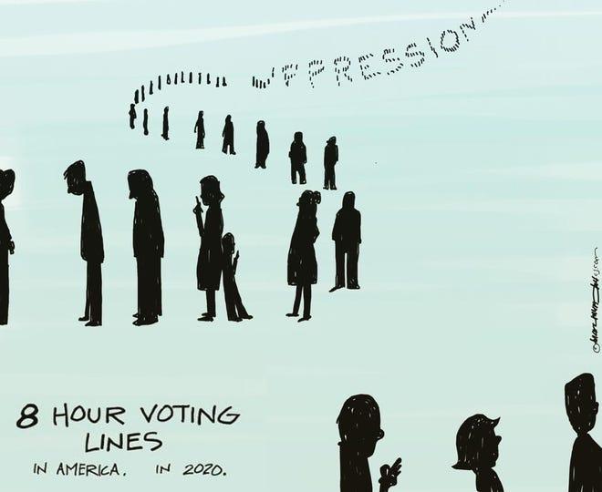 Voting lines.