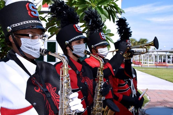The Cape Coral Elks Lodge 2596 and Suncoast Credit Union have provided 3,300 musician masks for band members at Lee County Schools.