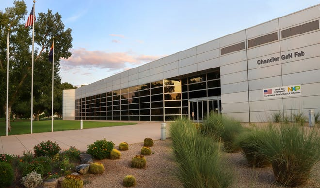 An upgraded NXP factory or fab in Chandler has started to make advanced semiconductors for  use in 5G cellphone transmissions.