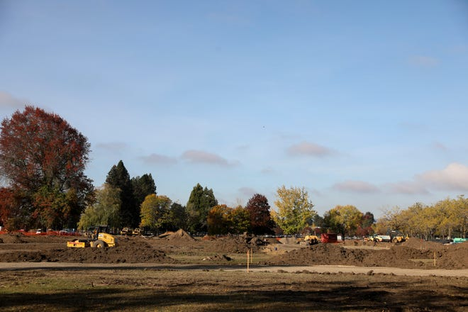 Construction at Park Avenue and D Street NE in Salem on Thursday, Oct. 22.