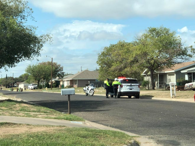 San Angelo Police were stationed in different areas of the city's Angelo Heights neighborhood on Thursday, Oct. 22, 2020.