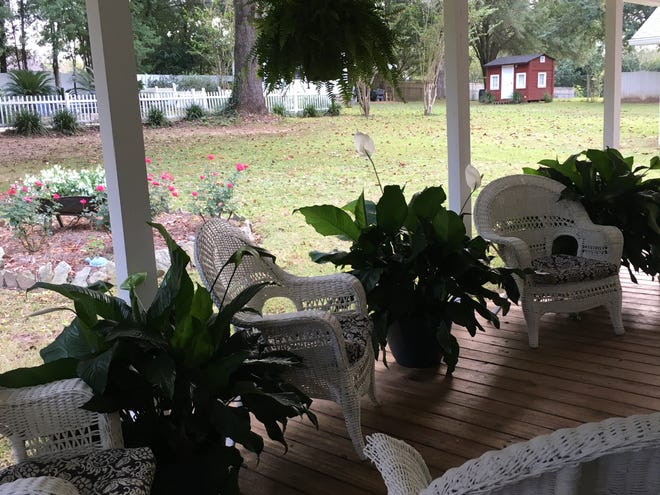 Candace's back porch where friends deepen friendship.