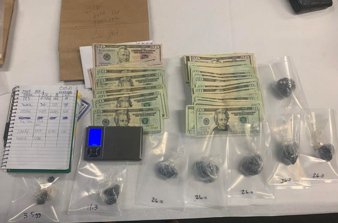 Oxnard police detectives seized heroin, a scale and cash during the arrest of a suspected drug dealer on Wednesday night.