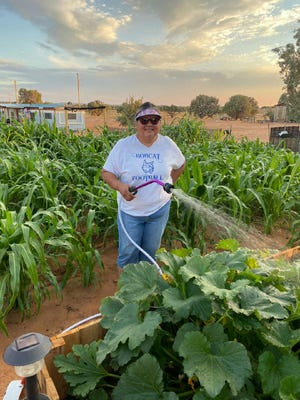 "Helena Begay, who collaborates with PWNA, started educating her elders about coronavirus at the end of January. Months into the pandemic, she's grateful that they took action early on. ""I think that's where we saved a lot of lives,"" she said."