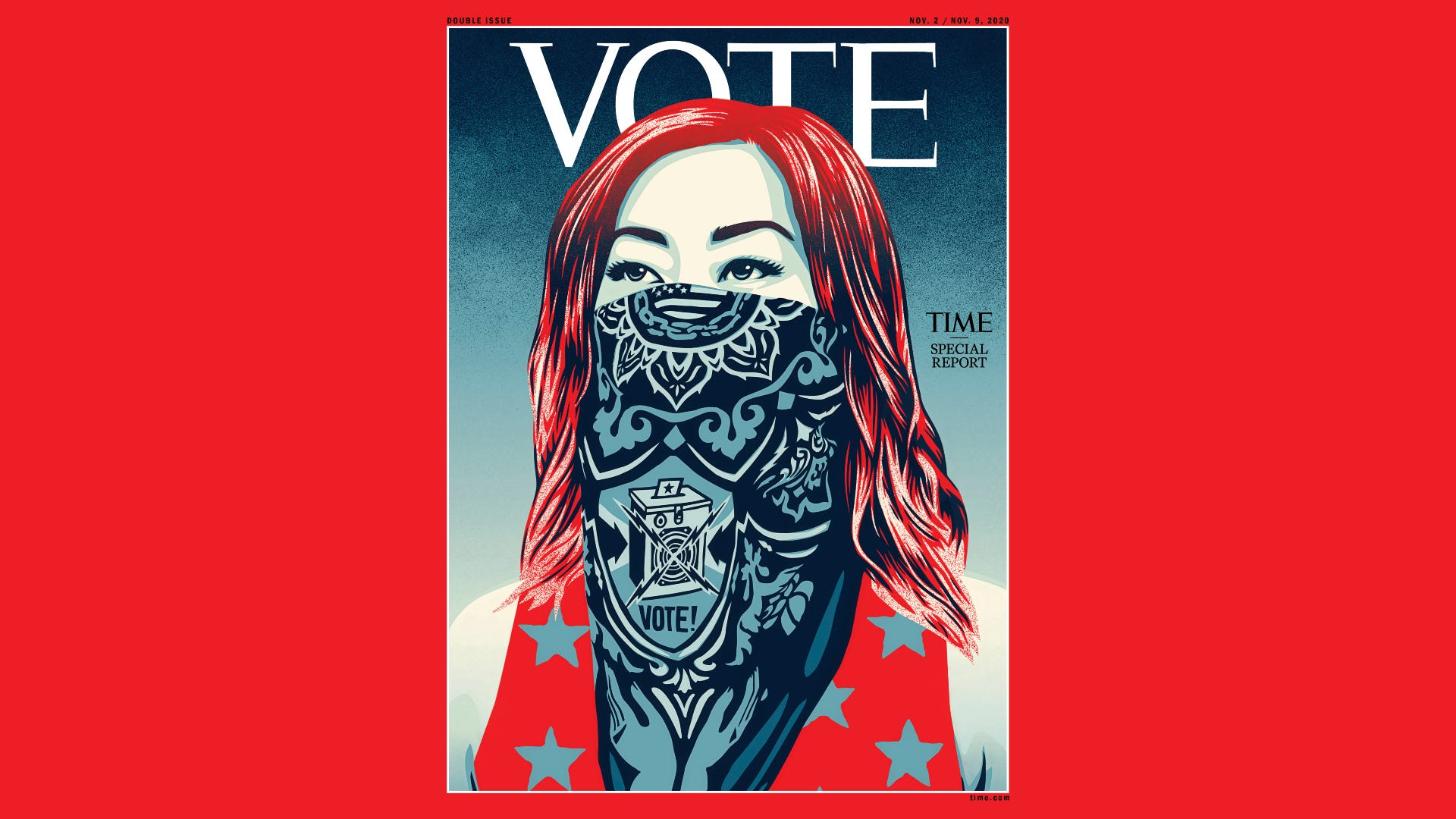 For the first time ever, Time magazine removes logo on cover, replaces it with a plea to 'Vote'