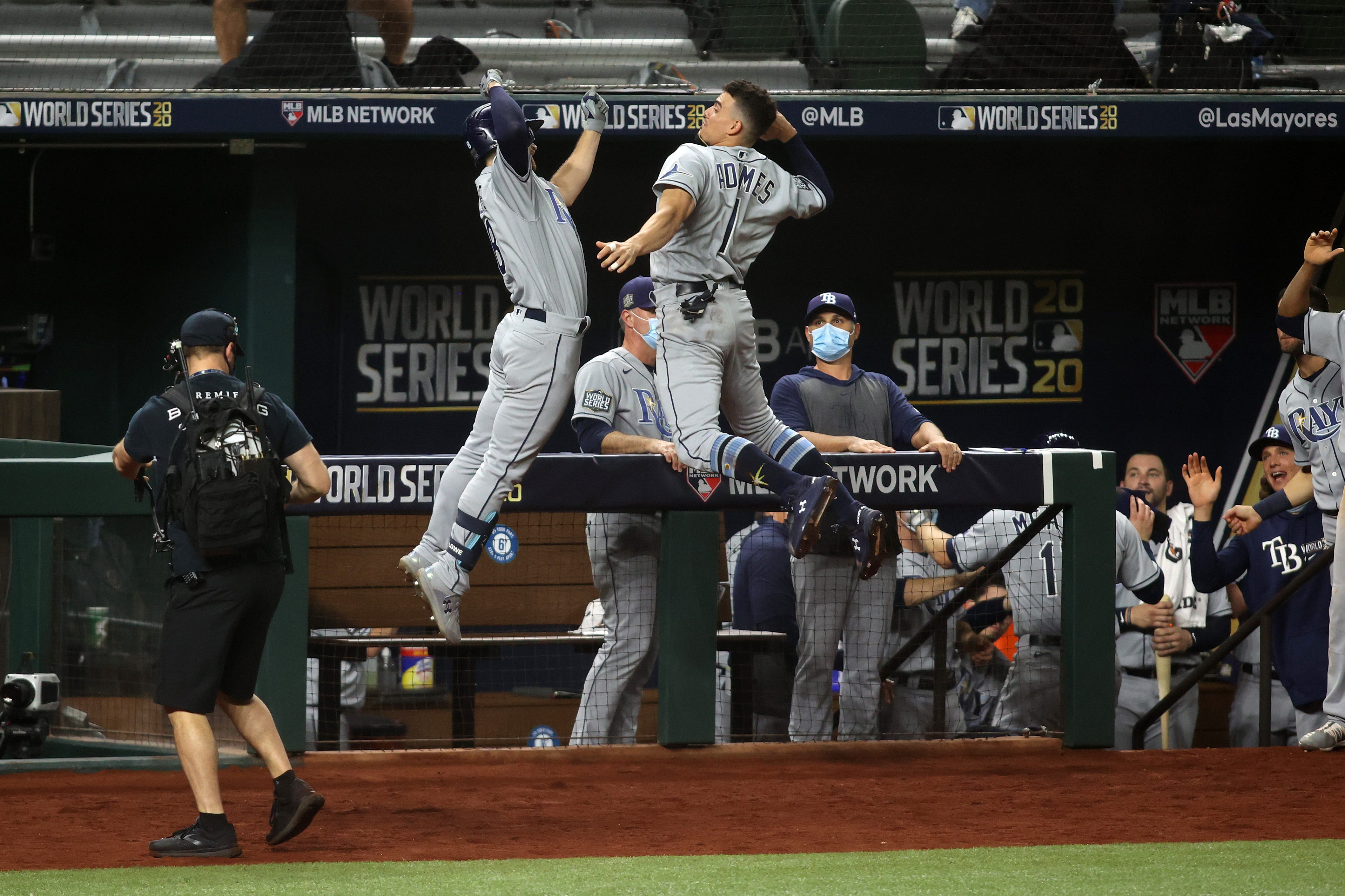 Rays offense wakes up in Game 2 to even World Series against Dodgers