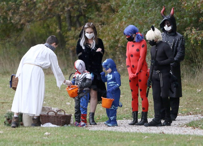 Area families took part in an event Oct. 18 at Alliance First Christian Church on West Beech Street. During a walk through the woods near the church, various characters from the Bible shared stories and passed out candy to those on hand.