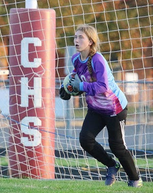 Crestview's Madalyn Aumend was named the 2020 Mid-Buckeye Conference girls soccer Player of the Year.