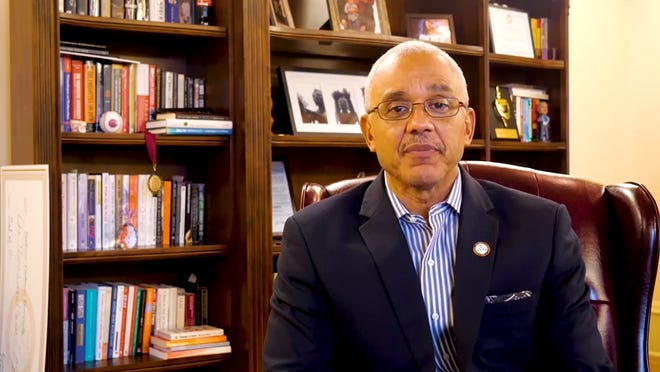Bethune-Cookman University President E. LaBrent Chrite urges students to stay cautious after the