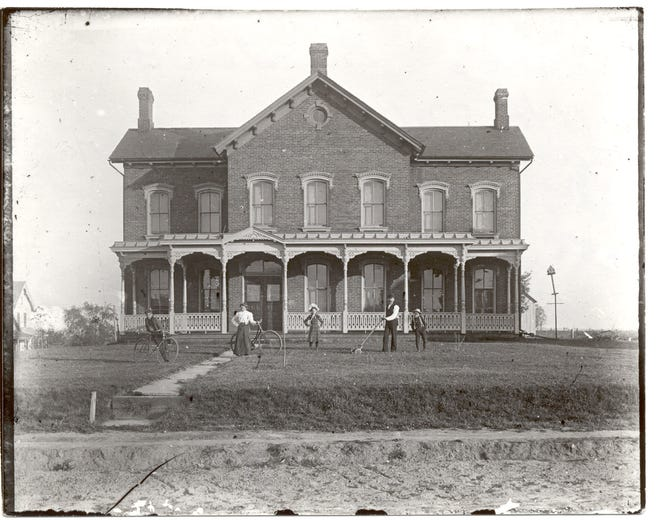 The John Hall Fund was set up under the terms of the will of John Hall of Massillon in 1854. He left the proceeds from the sale of his estate as a fund for the education of African American children. This photo shows the Hall School in 1864. (Gift of the Karl Spuhler Estate to the museum)