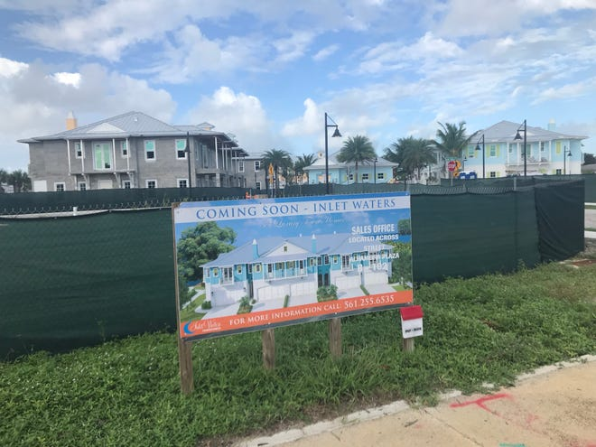 The Inlet Waters townhouse project marches toward completion Friday Oct. 23, 2020.