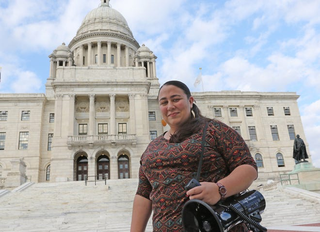 """Nurse and activist Liz Torres is among the organizers of Sunday's 1 p.m. """"Nasty Womxn Vote"""" event at the Rhode Island State House."""