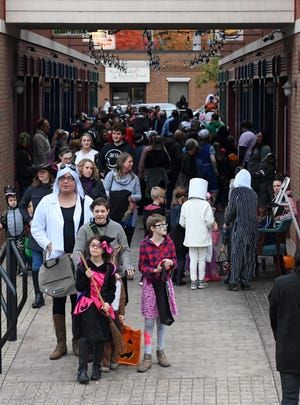 Main Street Kent is canceling this year's Family Friendly Halloween. This is a scene from Acorn Alley in downtown Kent.
