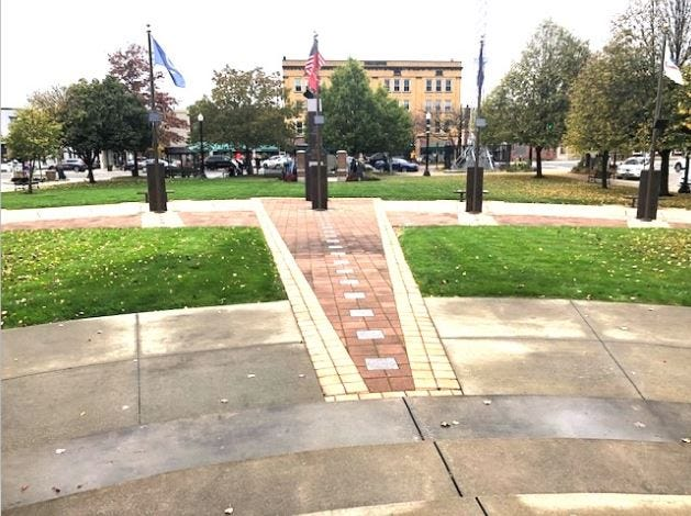 The Veterans Memorial at the Portage County Courthouse Mall