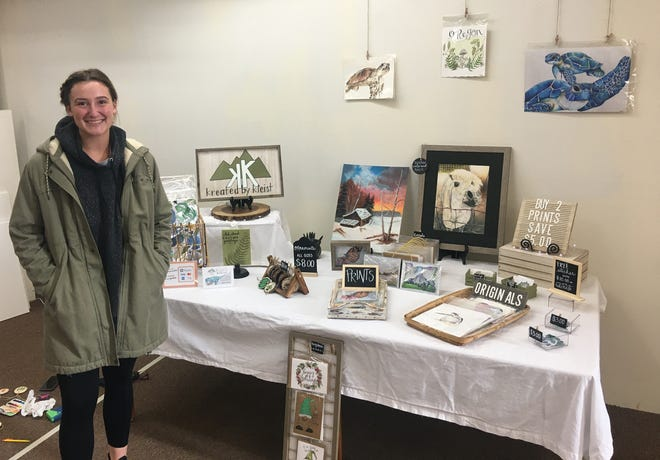 Watercolor artist Megan Kleist and her new marketplace at Dm3 Gallery/Galleria at the Smith.