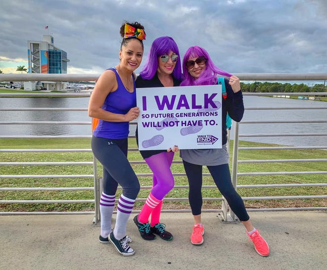 Local women join the fight for the first survivor at the 2019 Sarasota and Manatee Walk to End Alzheimer's disease.