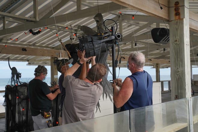 """Starz' """"Hightown"""" filmed exterior scenes at the Hanover Seaside Club and Crystal Pier on Oct. 23, 2020, in Wrightsville Beach."""