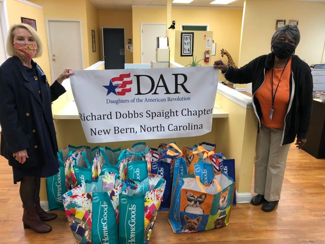 Paula Quinn, RDS Chapter recording secretary, with Essie Mallison, 