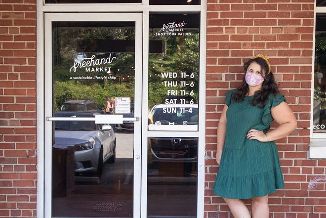 Heather Seaman is the mind behind Freehand Market in Saxapahaw, a young business with a focus on sustainability and representation for women in business.