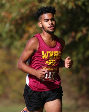 Isaiah Hutcherson finished 11th overall at the OCC-Capital meet Oct. 17 at North as the Warriors placed third in the team standings.