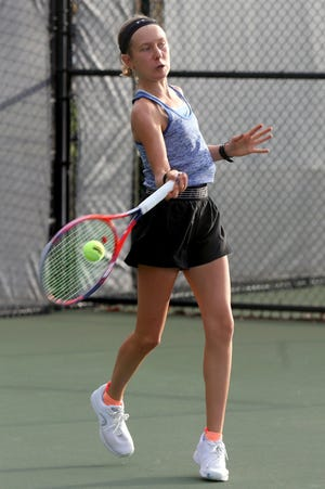 Kilbourne's Libby Alderman capped her freshman season at the Division I state tournament Oct. 23 at Lindner Family Tennis Center in Mason. She lost her only state match after winning a sectional championship and placing fourth at district.