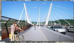 A rendering of the proposed design for the Western Hills Viaduct