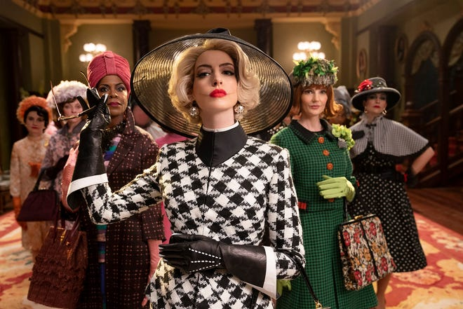 """Anne Hathaway, center, in a scene from """"The Witches."""""""