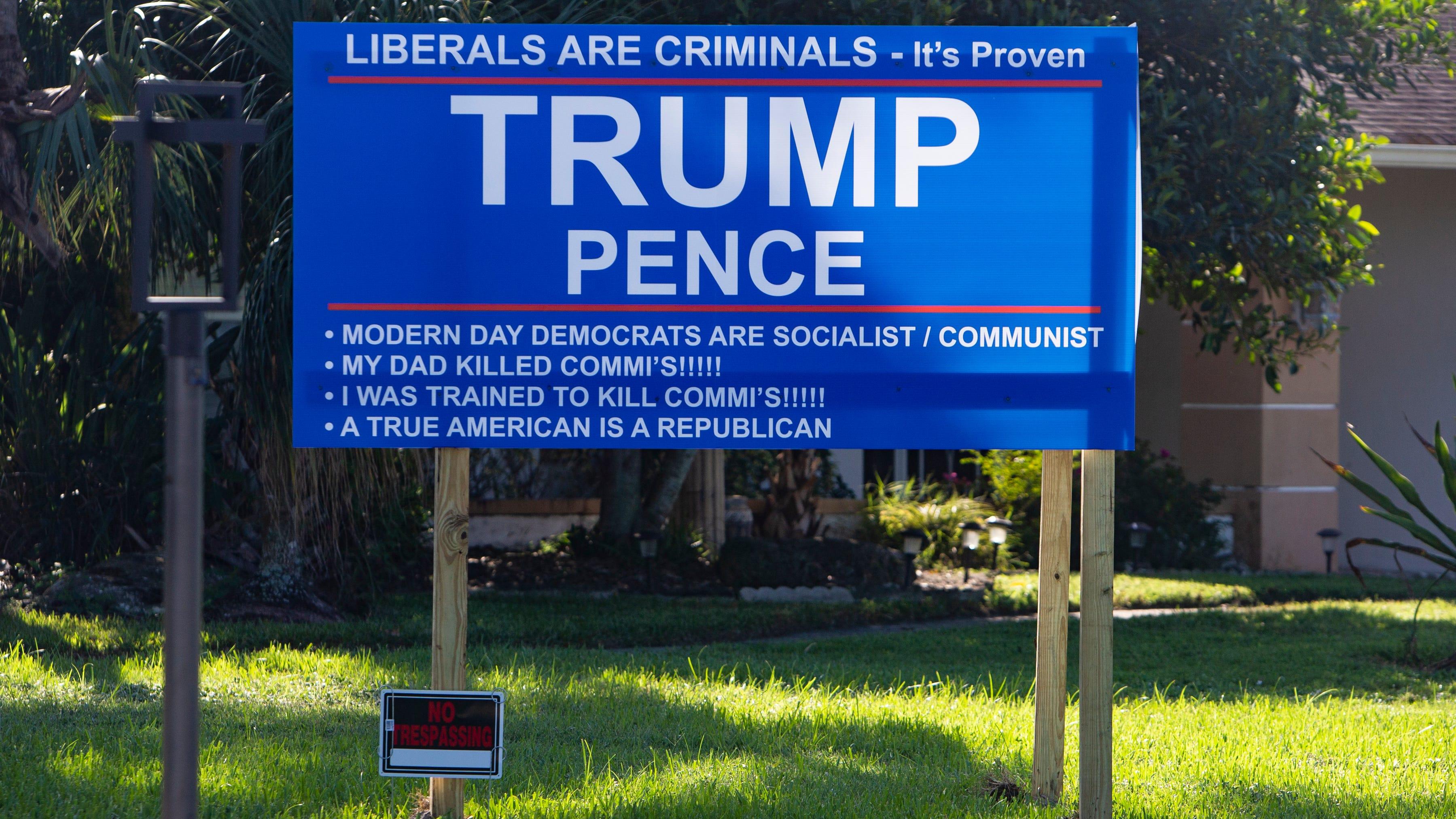 Homemade Trump campaign sign violates codes, draws complaints