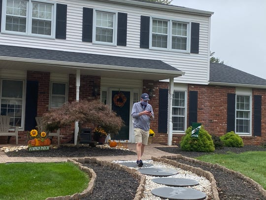 Mike Beson, a Monmouth County Democrat, canvassing for Joe Biden in  Bucks County, Pa, October 21, 2020