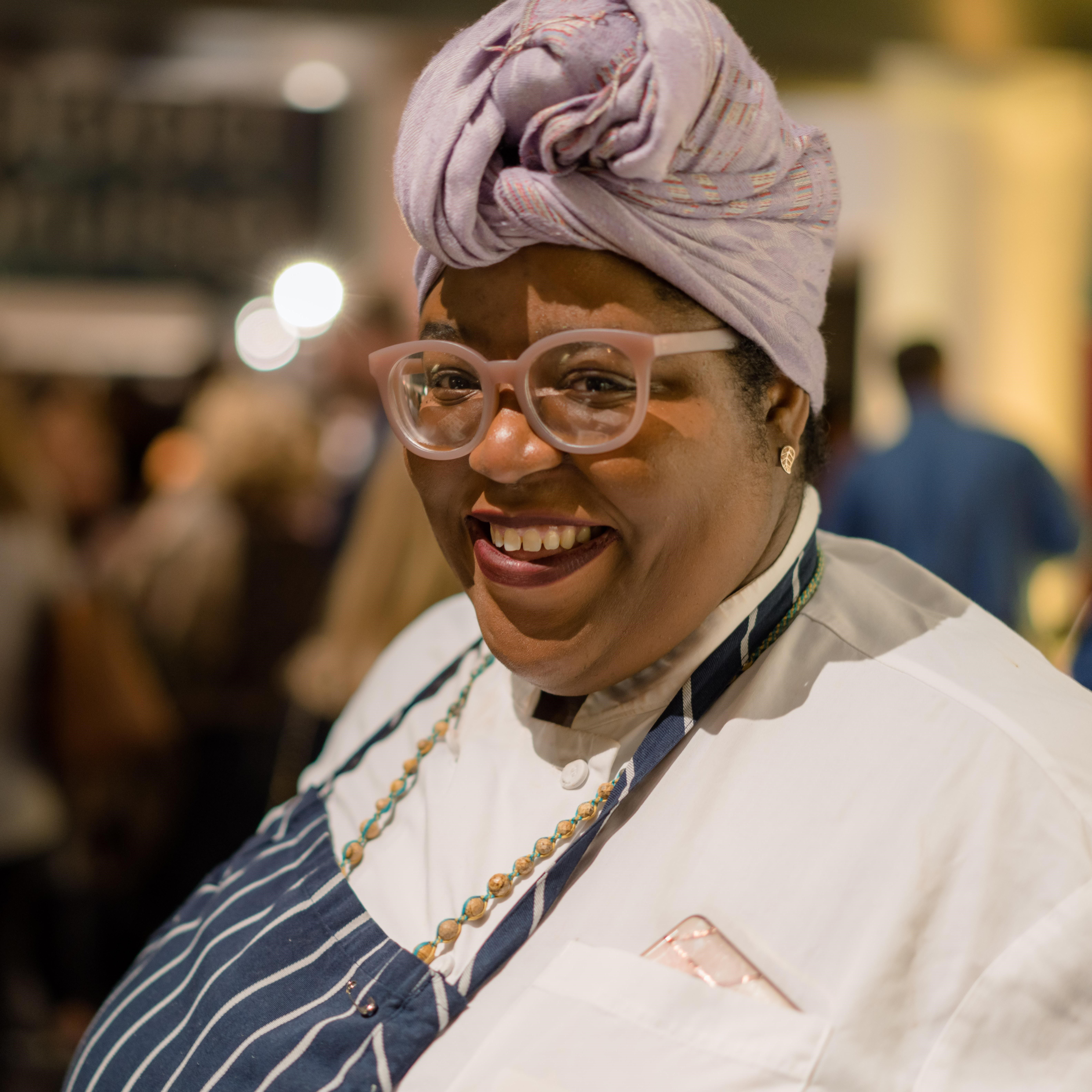 """Chef Thérèse Nelson is the founder of Black Culinary History, described on blackculinaryhistory.com as """"aplace for reverent examination of our culinary past while supporting the work that will build our culinary future."""""""