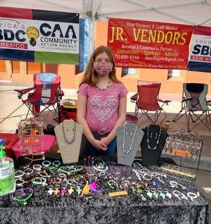 Abigail Urquidi runs a jewelry stand named Desert Fox Jewelry.