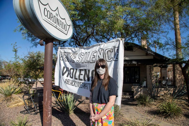Elle Murtagh is one of the owners of The Coronado, a vegan restaurant, which has a history of supporting progressive causes and fundraising for activist groups.