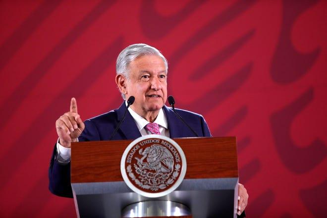 El presidente de México, Andrés Manuel López Obrador durante su conferencia de prensa matutina en el Palacio Nacional de Ciudad de México (México).