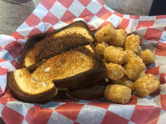 Patty melt and tatter tots at Waddy's in Hudson.