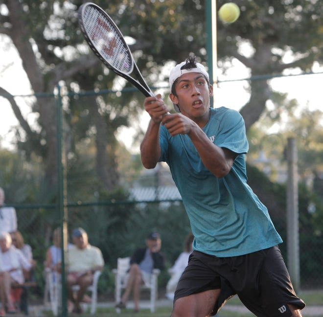 Matthew Seguraadvanced into the semifinals of the Mardy Fish Children's Foundation Tennis Championships