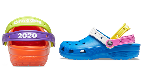 """The straps read """"Crocday 2020."""""""