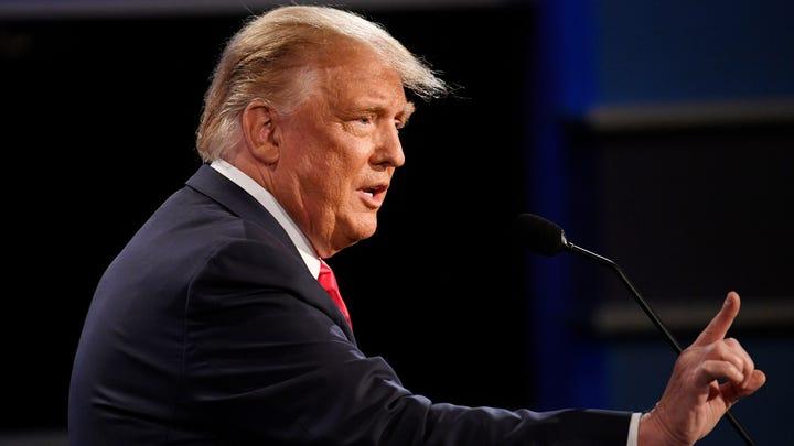 President Donald Trump speaks during the final presidential debate at the Curb Event Center at Belmont University in Nashville, Tenn., Thursday, Oct. 22, 2020.