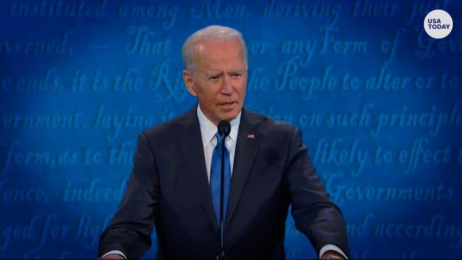 Joe Biden at the final presidential debate, held in Nashville on Oct. 22.