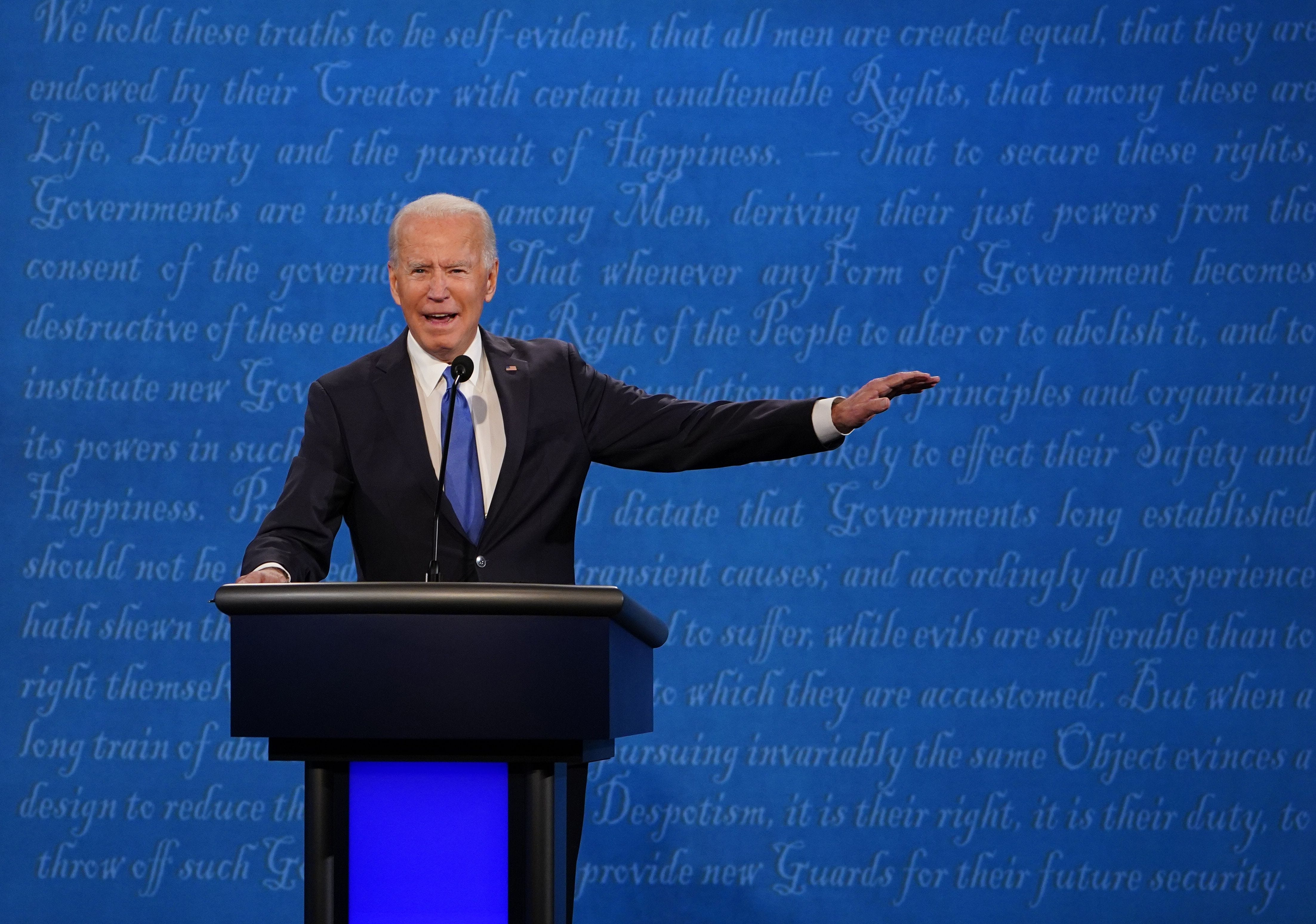 Presidential debate live updates: Biden says he would  shut down the virus, not the country
