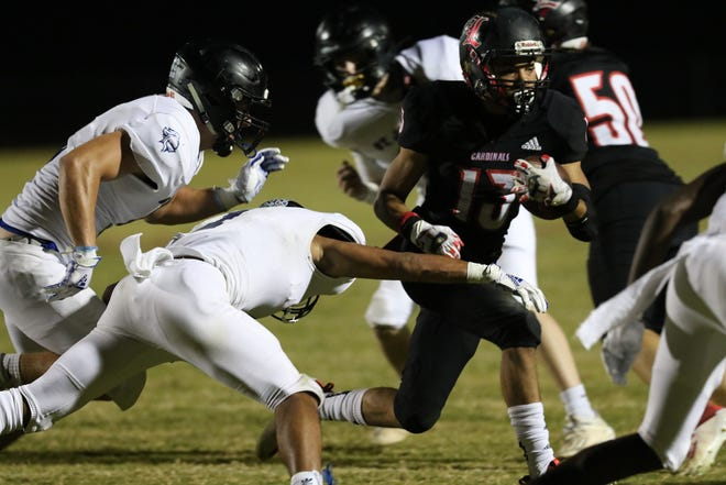 St. Joseph's played Landrum in high school football at Landrum High School on Oct. 23, 2020.