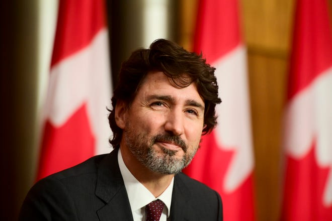 Canadian Prime Minister Justin Trudeau thanked U.S. President Joe Biden for helping Canada secure more doses of the COVID-19 vaccine.