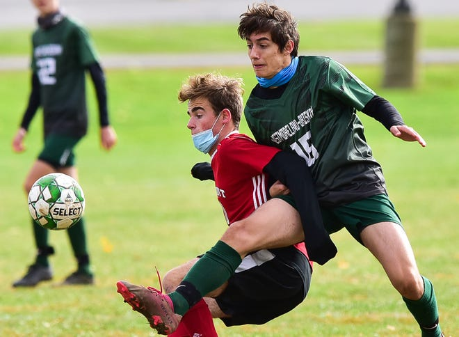 Sauquoit Valley's Andrew Dischiavo (left) was selected as a Center State Conference West Division honorable mention.