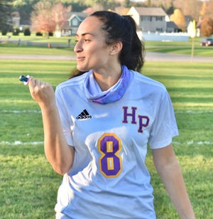 Holland Patent's Rory Richard scored three goals Wednesday to give her 24 for the season. The total is a record for Holland Patent.