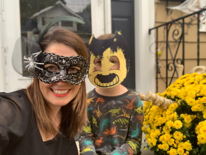 Writer Vanessa Lillie and her son get into the Halloween spirit.