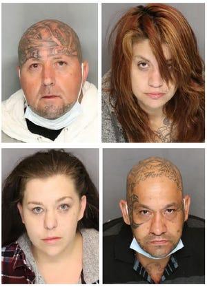 Angelina Alvarez, 32, Kaitlyn Stolze, 28; Carl Goodman, 39; and Robert Gonzalez, 40, all of Modesto, were arrested on suspicion of organized retail theft.