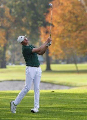 Tyler Groomes tied for fifth place to lead Dublin Jerome to fourth as a team in the Division I state tournament held Oct. 23 and 24 at Ohio State's Scarlet Course. The Celtics had won the previous three state titles.
